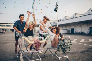 Freizeitaktivitäten | Einkaufswagen-Rallye